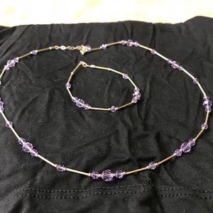 Bracelet with matching necklace